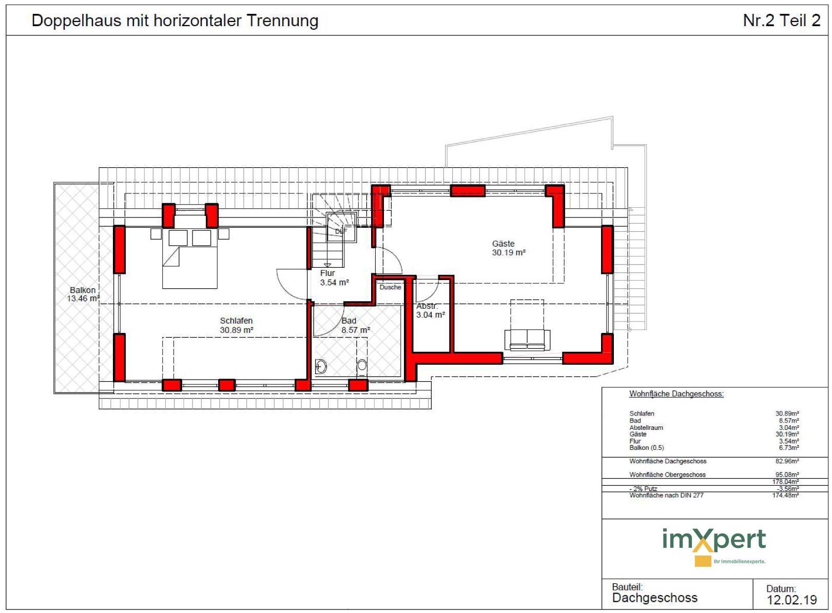 Maisonette-Wohnungen Neubau Zweifamilienhaus Kenzingen bei ImXpertert
