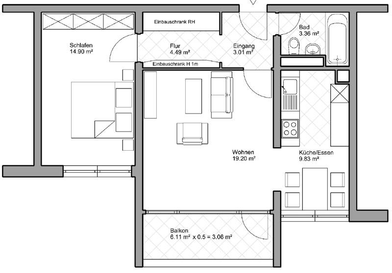 Zweizimmerwohnung in Landwasser von ImXpert